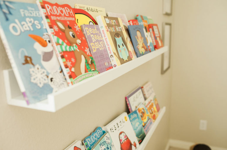 baby nursery, books